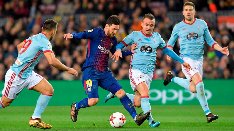 Copa del Rey: con 2 tantos de Messi, Barcelona goleó a Celta y avanzó a cuartos de final