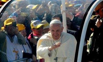 """El papa Francisco animó  a los jóvenes chilenos a que """"sean valientes"""""""