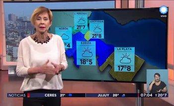"""Echaron por """"grande"""" a Nadia, la histórica presentadora del clima de la TV Pública"""