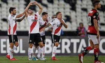 Copa Libertadores: sobre el final, River rescató un punto en su debut ante Flamengo