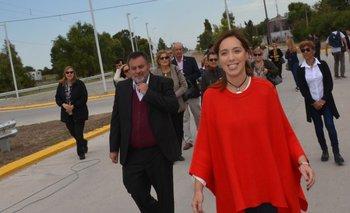 María Eugenia Vidal inauguró obras en Coronel Pringles