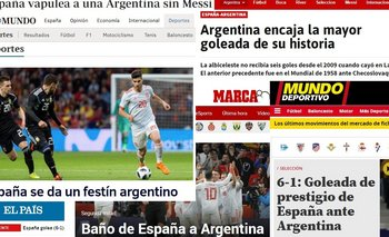 Cómo repercutió en los medios españoles la goleada sobre Argentina