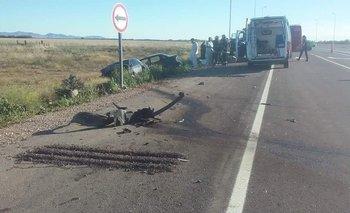 Dos personas murieron en un accidente en la ruta 67, cerca de Coronel Suárez
