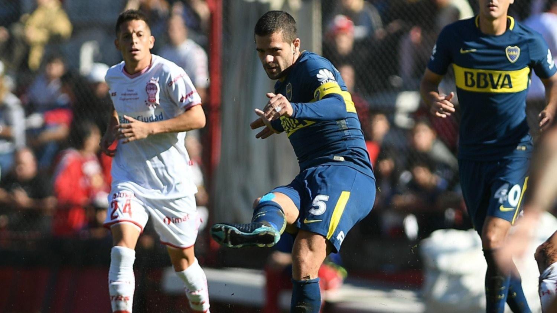 En su debut como bicampeón, Boca igualó 3-3 con Huracán