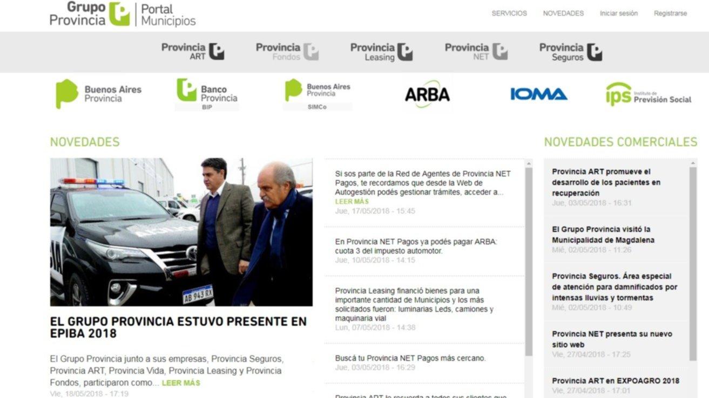 El Grupo Provincia Lanzo Un Exclusivo Portal Para Municipios
