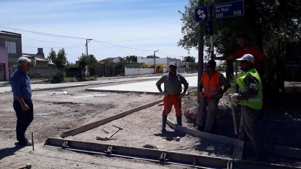 Patagones: se extiende la obra del boulevard Moreno