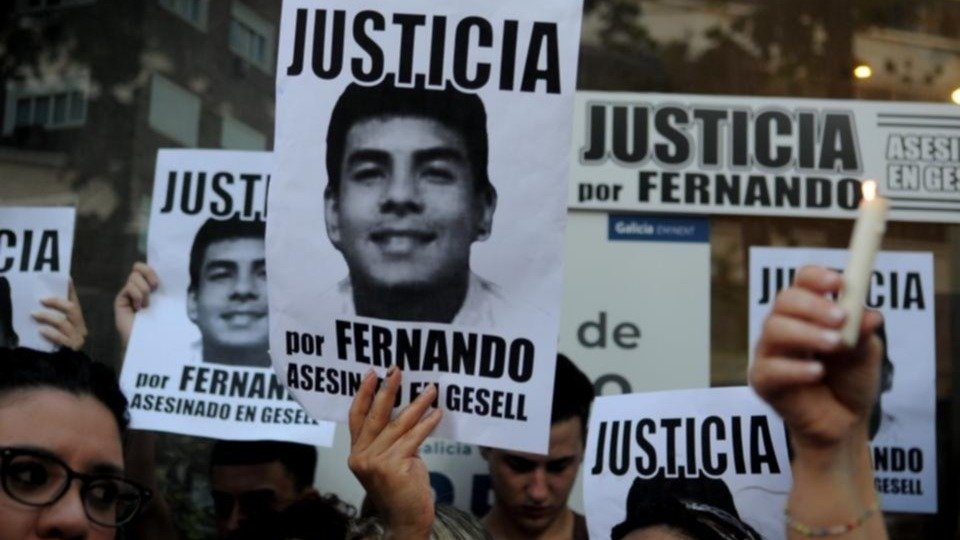 Protestas por la muerte de Fernando Báez