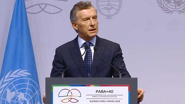 Macri inauguró la II Conferencia de Alto Nivel sobre Cooperación Sur-Sur