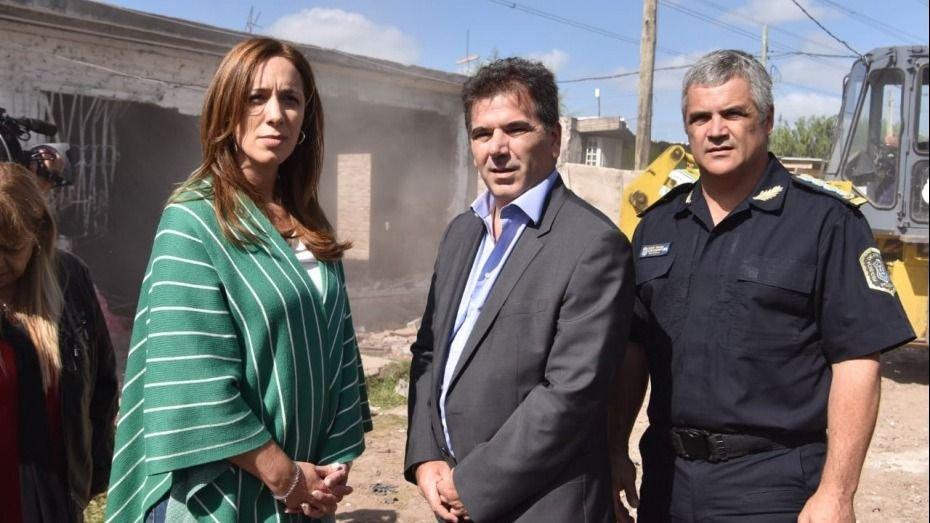 Vidal encabezó en La Matanza el derribo del búnker narco número 100