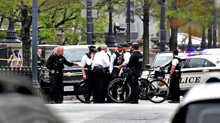 Un hombre detenido por prenderse fuego cerca de la Casa Blanca