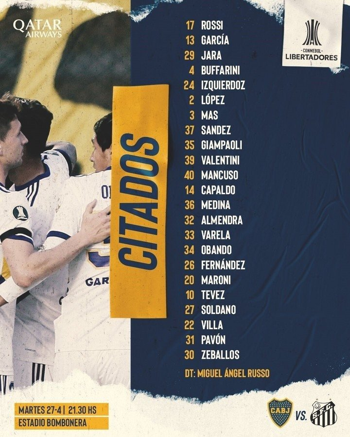 Hora, TV y formaciones: Boca recibe a Santos y quiere vengar la eliminación  de la Libertadores 2020