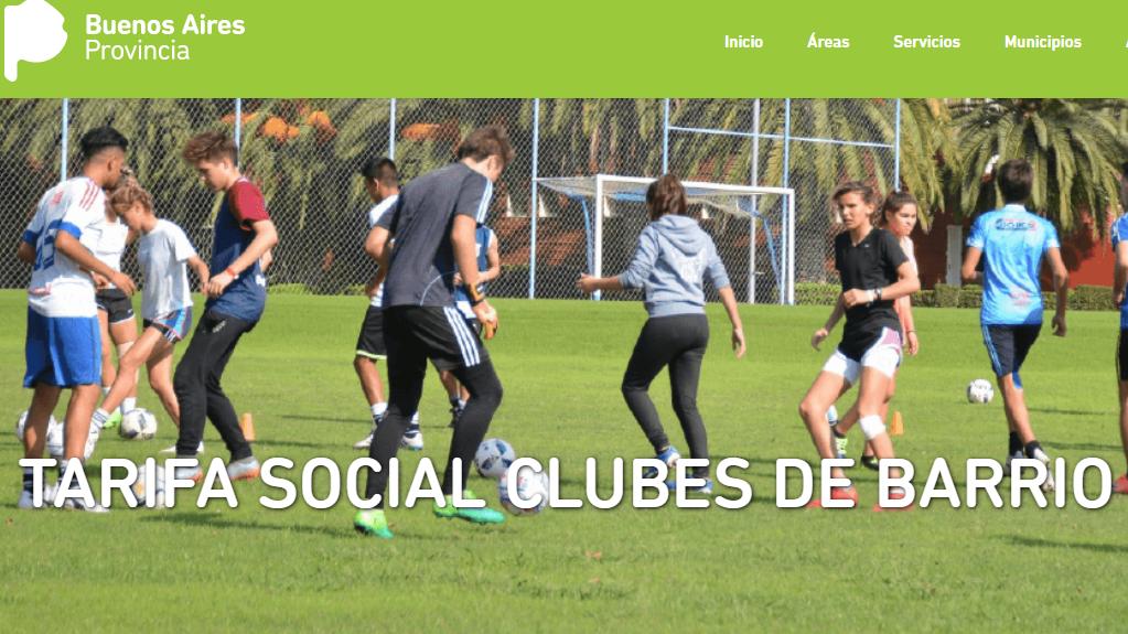 Vidal lanzó la tarifa social para clubes