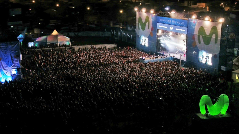 Vista aérea de las más de 30 mil personas que disfrutaron del MFM.