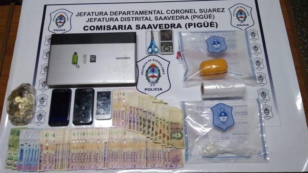 Allanamiento en Pigüé: secuestraron cocaína y detuvieron a una mujer