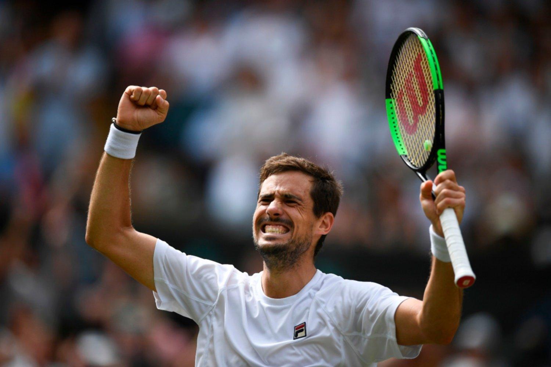 Pella quedó eliminado de Wimbledon — Fin del sueño