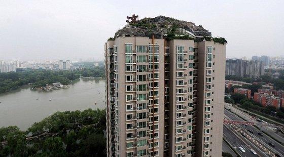 China Construyó Una Montaña En La Terraza De Un Edificio