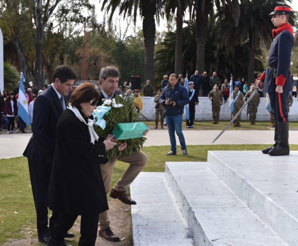 Rindieron homenaje a San Martín en el 169º aniversario de su muerte