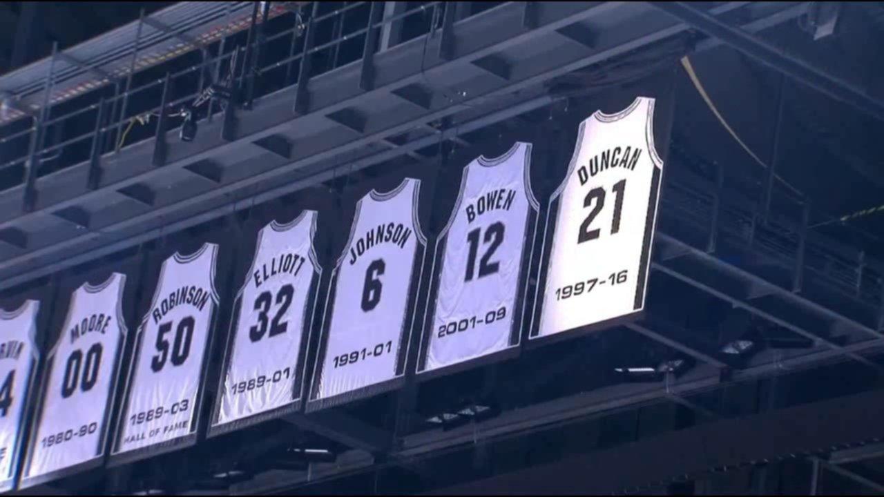 Los Spurs retiran la 20 de Manu — Merecido homenaje