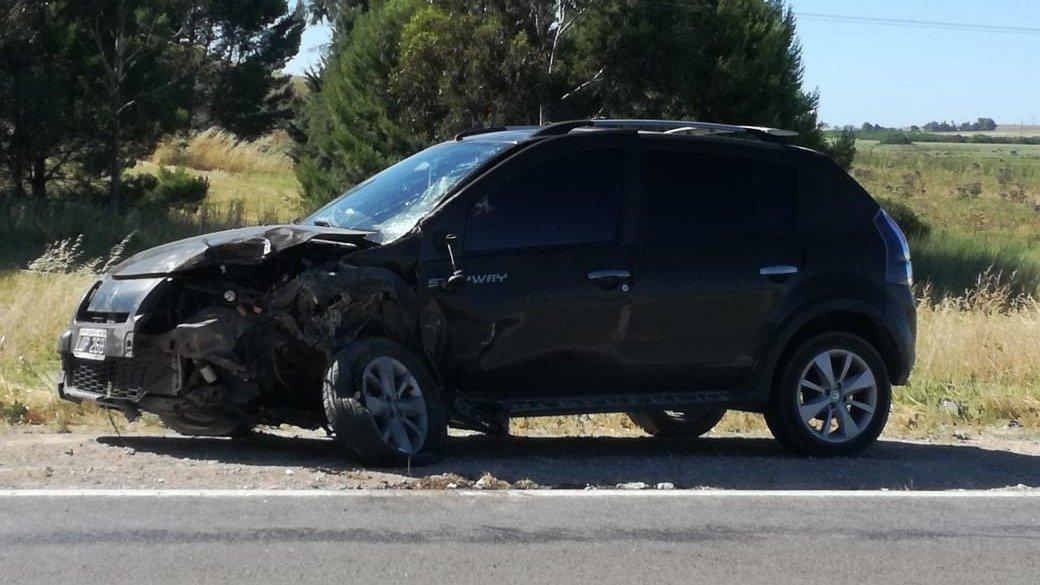 Ruta 3: un herido tras un choque y vuelco